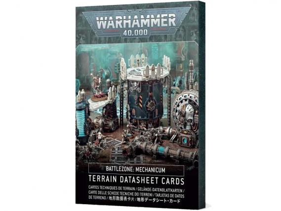 Battlezone Mechanicum: Terrain Datasheet Cards (GER)
