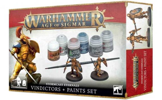 Stormcast Eternals Vindictors + Paints Set