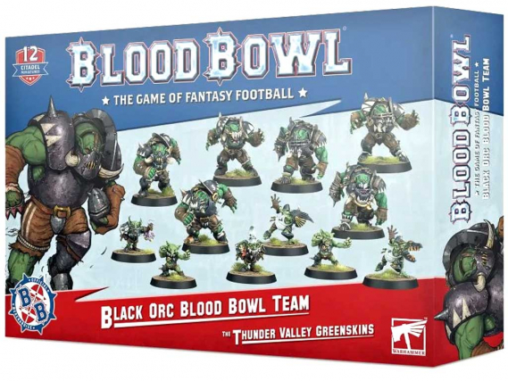 The Thunder Valley Greenskins – Black Orcs Blood Bowl Team
