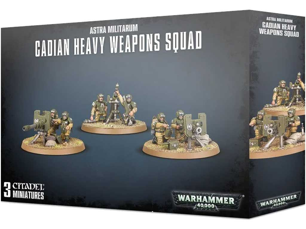 Warhammer 40,000 - Cadian Heavy Weapon Squad